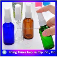 50ml empty spray glass bottle toner bottle with pump sprayer and plastic cap