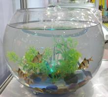13.7Inch round fish tank, Mini glass fish tank, Sphere glass fish tank
