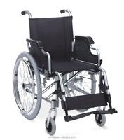 Standard European Aluminum Folding Wheelchair With Flip Up Armrest and Swing Away legrest