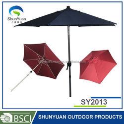Aluminum sun garden coffee shop with polyester fabric protection patio umbrella