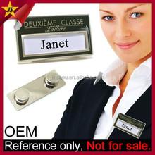 Jin Sheu Manufacturer Promotional Wholesale Custom Metal Corporate Name Tag