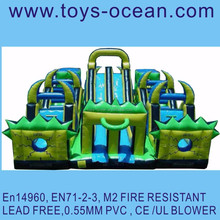 inflatable jungle obstacle combo/inflatable giant 3 in 1 combo game /giant inflatable sports games