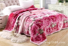 factory sale full size acrylic mink blanket