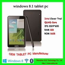 Shenzhen cheap oem tablet pc 7 inch intel atom 1.8ghz quad core tablet with dual camera