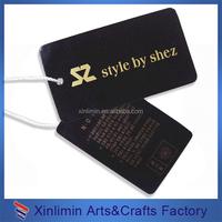 cheap custom kraft paper hang tag with eyelet