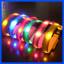 colorful different sizes 15mm width led pet collar