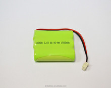 Rechargeable batteries Ni-MH AA 1500mAh 3.6V battery pack industrial batteries