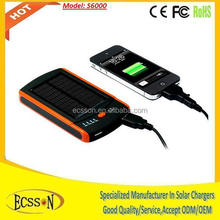 6000mah save up to 50% off solar cell phone charger with CE&FCC&ROHS certificates