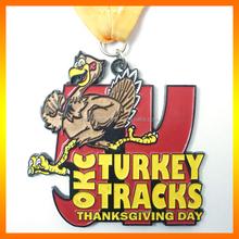 Run for Thanksgiving Day,custom metal running souvenir medal