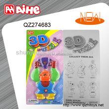 Funny design fridge magnet puzzle 3D puzzle toys