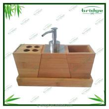 2015 New Style Modern design 4 pcs bamboo bathroom accessory / Bamboo bathroom accessory set