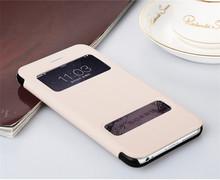 Baseus double smart view window flip leather phone cases for iphone6 plus