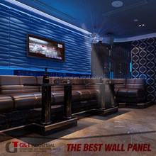 embossed decorative 3d plastic wall covering panels and different shape 3d wall art panels with Trading Assurance
