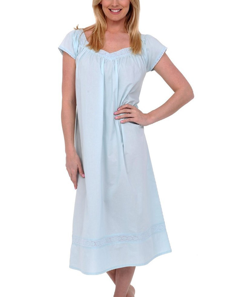 Wholesale clothing manufacturer for women long cotton Long cotton sleep shirts