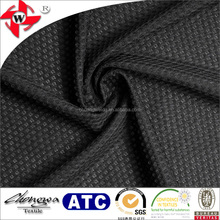 Chuangwei Textile warp knitting honeycomb jacquard elastic soft and breathable mesh fabric with foaming process