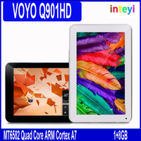 Original VOYO Q901HD 3G MT6582 Quad Core 9.6 inch 1GB/8GB Android 4.4.2 Phone Call Tablet PC, Dual SIM WCDMA Support GPS 5000mAh