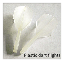 White Color Standard Dart Flights With Stem, 2015 HOT SELL CHEAP DART FLIGHT