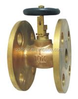 Bronze globe valve with open/close indicator 5K/10K J