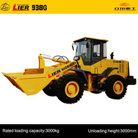manufacture of LIER-938G 3 tons used backhoe loaders