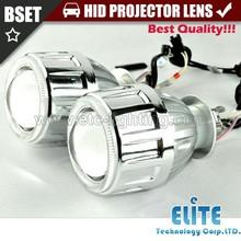 2.8HQI double angel eyes plastic hid xenon bulb projector lens