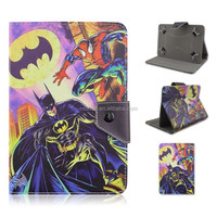 Cartoon Superman Batman Flip Stand PU Leather Cover Case For 7 inch Universal Tablet PC
