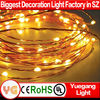 CE ROHS approved mini flat led battery light IP65 battery operated led copper wire fairy light 2m 20leds silver wire led