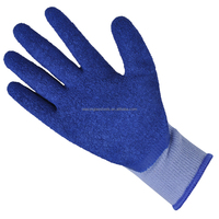 protecting cut resistant glass latex coated gloves