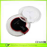 round qi wireless desktop charger wireless fantasy charger Travel Converters USB 3.0 QI standard wireless base charger station