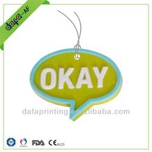 customizable hanging air freshener for car