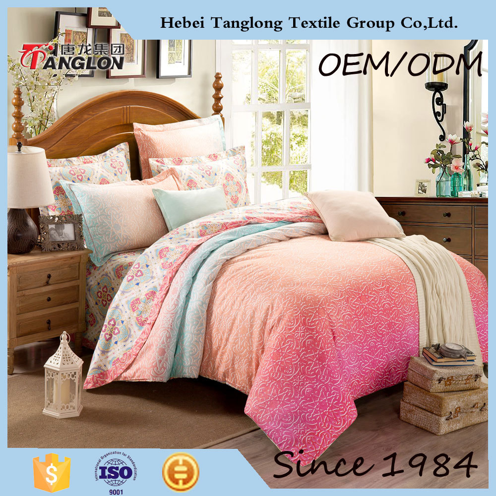 Luxury Brand Name Bright Color forter Set Home Textile