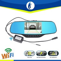 WIFI wire free installation mirror 5inch car dvr car rearview mirror