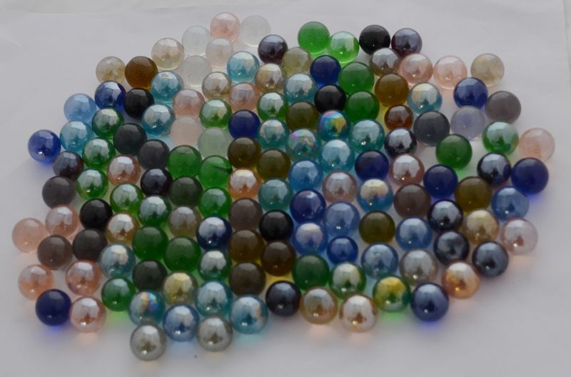 Clear Marble Rocks : Small glass ball beads little clear marble