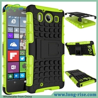 Shockproof 2 in 1 PC+TPU Hybrid Cover Case for Nokia Lumia 950 with Kickstand