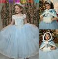 venta al por mayor de elsa congelado vestido de niños vestidos de fantasía para la niña