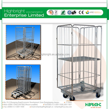 Warehouse Wire Metal Collapsible Storage Roll Cage