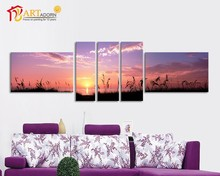 Oil paintings sunset landscape natural for home decor