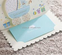 Baby Girl anuncio tarjetas de invitación ; azul de la niña de la invitación del cumpleaños ; niños ' tarjetas de invitación de cumpleaños