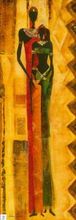 India women oil painting on canvas abstract