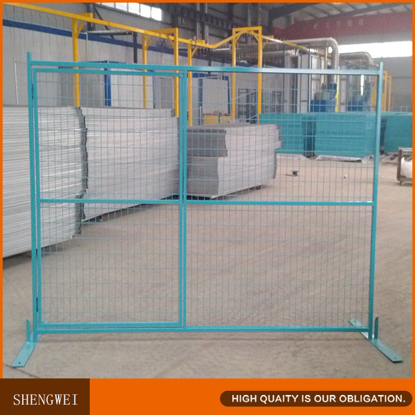 Portable Aluminum Fencing : Green portable temporary metal fence panels buy
