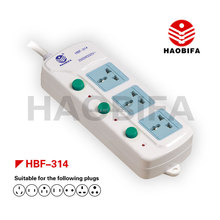 HBF-314 315 316 HAOBIFA Extension Power Socket with Multi Switch