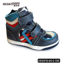 Navy cool boy sport shoes baby toddler warm safe shoes
