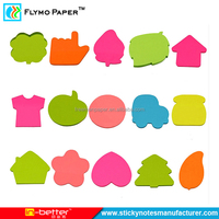 Custom Die Cut Sticky Notes Cartoon Memo Pad With Paper Card