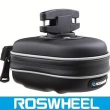 Wholesale logo customized waterproof leather bicycle saddle bag 13875-1 electric bike battery bag
