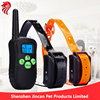300 Yards Ultra Dual Rechargeable & Full Waterproof Dog Training Collar with Amber LCD Remote - Vibration / Static Shock / Tone