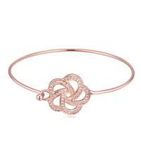 China supplier tribal traditional gold pumpkin rhinestone alloy jewelry wholesale bangle bracelet of Flower shape bracelet