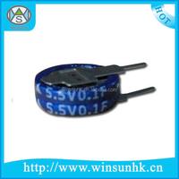 High Quality Lamination Coin V Type Super Farad Capacitor
