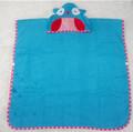 2014 azul búho batas de baño para bebés niños toallas con capucha niño animal bata de baño toalla 400 moq