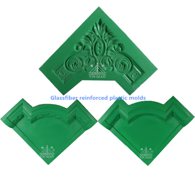 Smooth surface gypsum plaster ceiling corner decorative molds, View ...