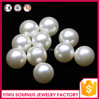 100pcs/bag 16mm Large size round pearl white color no holes beads