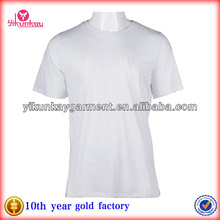 Mens Plus Size 100%polyester White Plain T shirt for Printing